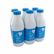 J'aime le lait d'ici 1/2 écrémé bouteille 6x1l