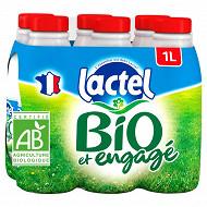 Lactel lait entier bio certifié AB  6x1l