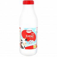 Cora lait bouteille entier stérilisé UHT 1l