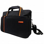 Porte-document Cora noir/orange