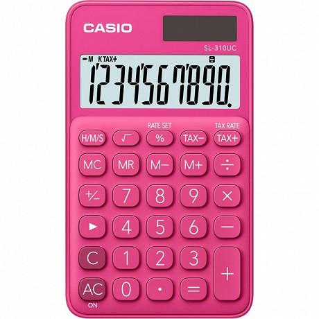 Casio calculatraice de poche 4 opérations sl310 uc rouge