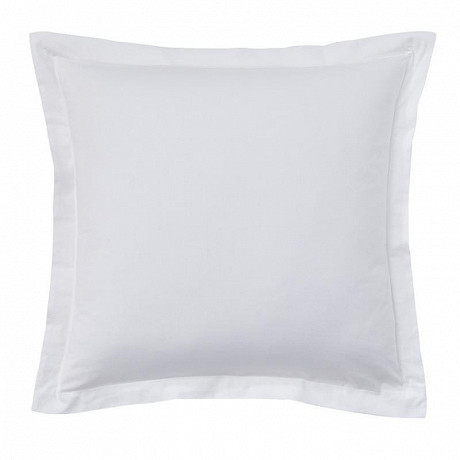 "Taie d'oreiller 63x63 ""uni 57 fils blanc"""