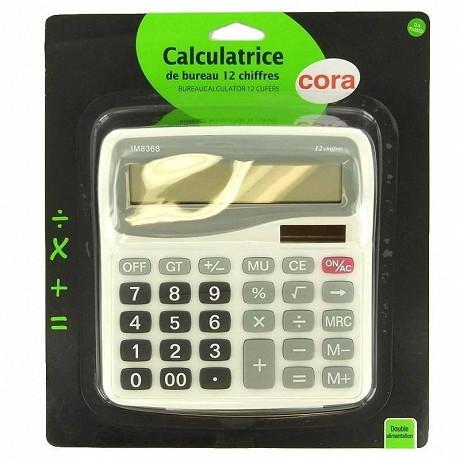 Cora calculatrice de bureau 12 chiffres