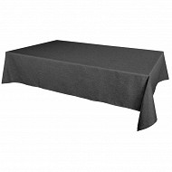 Nappe polyester effet lin rect 145x240cm coloris anthracite