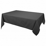 Nappe polyester damassee rect 145x240cm coloris anthracite