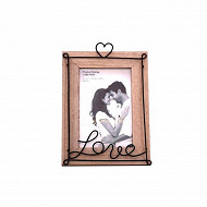 Cadre photo 'love' 22x15x2.3cm