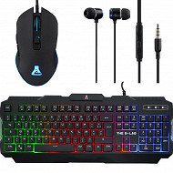 The Glab Pack gaming avec clavier + souris + ecouteurs + tapis COMBO-HELIUM