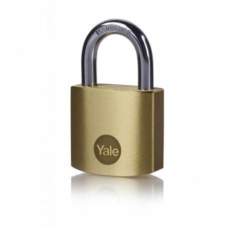 Yale cadenas laiton mat anse acier 3 clés 35mm