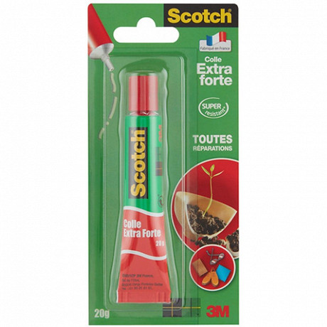 Scotch - Tube colle extra forte 20 grammes tube aluminium
