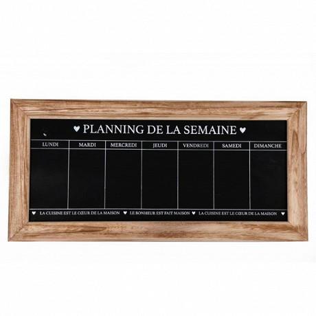 Planning semaine ardoise 67x32x1,5cm