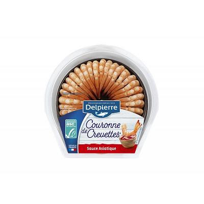Delpierre Delpierre couronne de crevettes sauce asiatique 130g