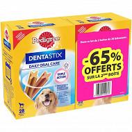 Pedigree dentastix bipacl1.08 kgx2 65% sur le 2eme