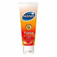 Manix gel lubrifiant fraise - tube de 80 ml