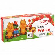 Cora lapin fraise x5 125g