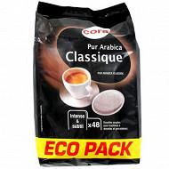 Cora café 48 dosettes arabica classique 333g