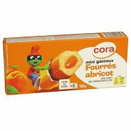 Cora kido mini gâteaux fourrés abricot x 5 soit 150g