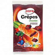 Cora kido sachet de 8 crêpes chocolat noisettes 256g
