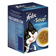 Felix soupe sélection de poissons 6x48g