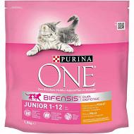 One chat junior poulet et cereales 1.5kg