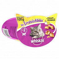 Whiskas les irresistibles poulet fromage 105g
