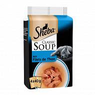 Shéba sachet fraicheur soupes filets de thon 4 x 40g