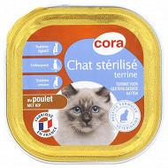 Cora terrine chat stérilisé au poulet 100g