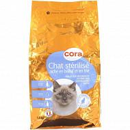 Cora croquettes premium chat stérilisé riche en boeuf 1.5kg