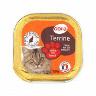 Cora terrine riche en boeuf pour chat 100g