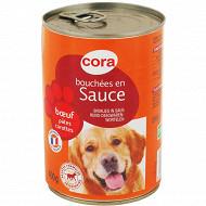 Cora bouchées en sauce boeuf pâtes carottes boite 400 g