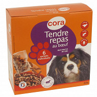 Cora croquettes chien moelleuse au boeuf 6x 150 g