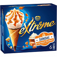 Extrême Nestlé sundae caramel 6x66g