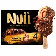 Nuii - bâtonnets sirop d'érable de canada & beurre de cacahuéte x4 - 272g