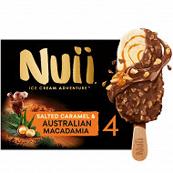 Nuii - 4 bâtonnets salted caramel & australian macadamia 272g