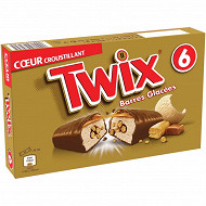 Twix glace barre glacée chocolat biscuit x6 258,6ml - 205g