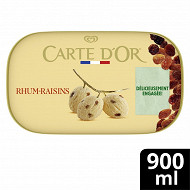 Carte d'or glace rhum raisins bac 900ml - 506g