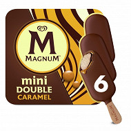 Magnum mini double caramel x 6 60ml - 300g