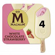 4 magnum blanc fraise 440 ml - 360 g