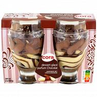 Cora 2 coupes glacées chocolat 360ml - 180g