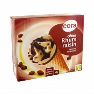 Cora 6 cônes rhum raisin 720ml - 408g