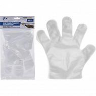 Lot de 50 gants transparents jetables