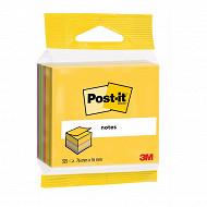 Notes post-it cube de notes ultra yellow 325 feuilles 7.6x7.6 cm