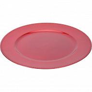 Sous assiette rouge diamètre 33 cm