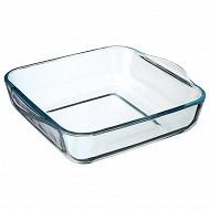 Plat four en verre carré 22 cm
