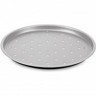 Plaque à pizza perforée 32cm silver élégance