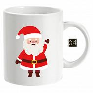 Mug 33cl droit en faience décor santa 2