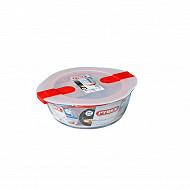 Pyrex cook & heat plat rond couvercle micro ondes 20cm