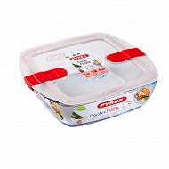 Pyrex plat carre couvercle micro ondes 17cm cook & heat