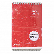 Lot de 2 blocs Steno 148x210 180 pages uni