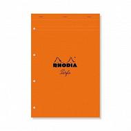Rhodia - Bloc perforé 21x31.8 cm 160 pages grands carreauxr 80g PEFC