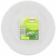 Cora assiettes x50 blanches 23cm